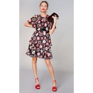 Kate Spade Casa Flora Flutter Sleeve Dress
